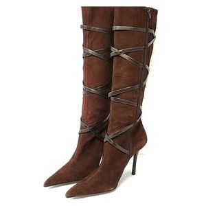 Aldo Berneron Brown Leather Knee Boots Size 10